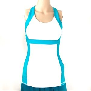 Lululemon Athletic tank top  white blue Size 4